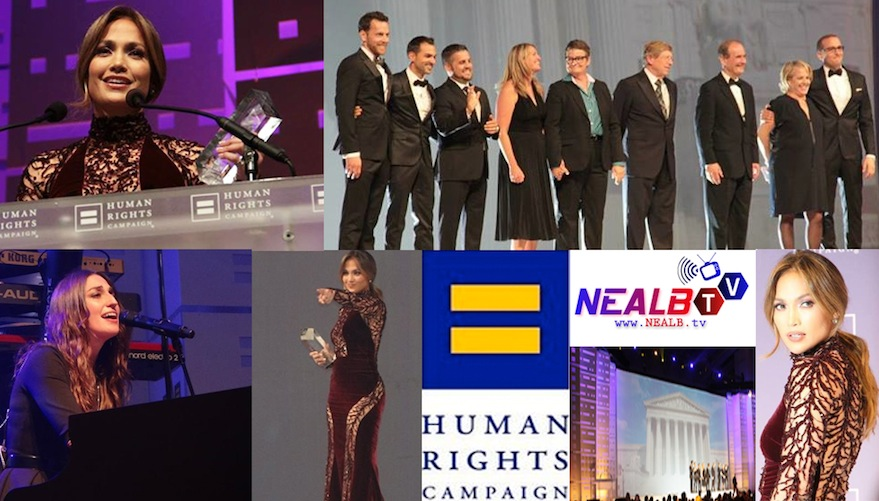 NEALB.tv: 2013 HRC National Dinner Jennifer Lopez, Prop 8 & DOMA