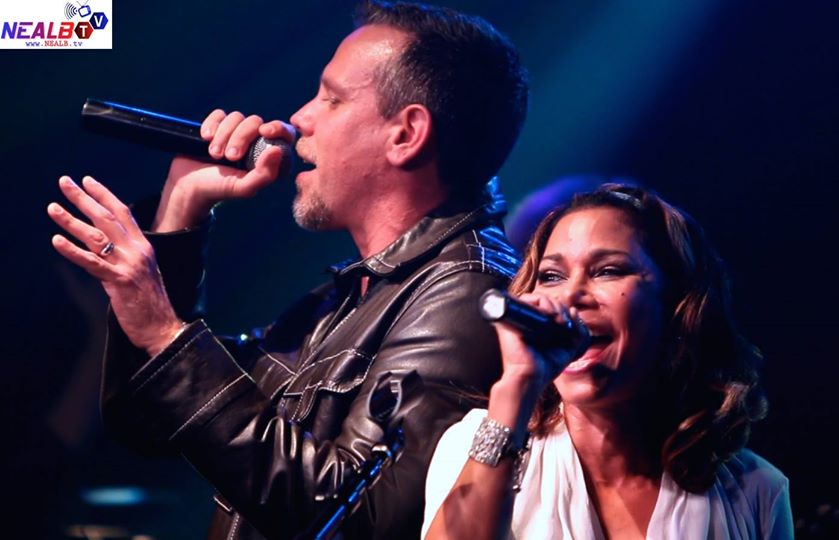 New York, NY USA - October 17, 2014: RENT's Original Broadway cast members Daphne Rubin-Vega & Adam Pascal reunite for a concert at The Highline Ballroom.