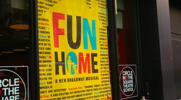 The Broadway Opening Night of Fun Home at the Circle in the Square Theatre.  Sunday, April 19, 2015 Circle in the Square Theatre