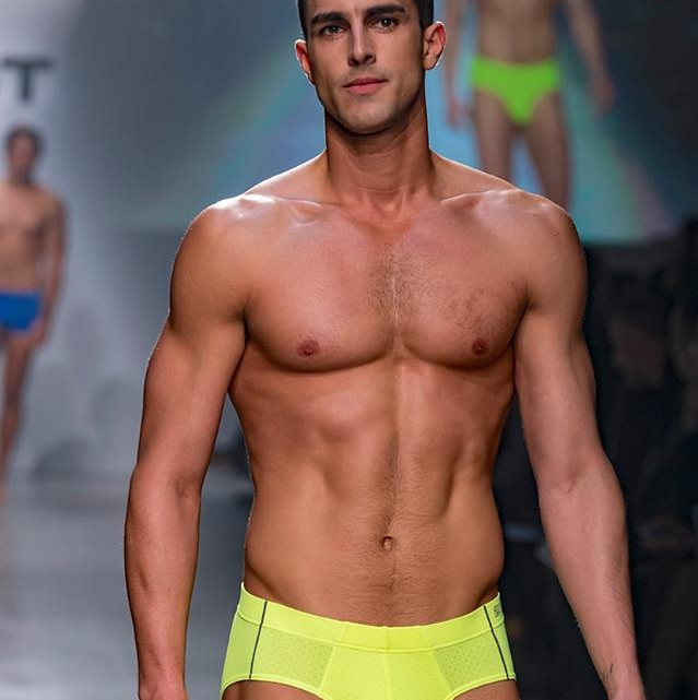 New York, NY - October 14, 2015: 2(X)IST which marks its 25th anniversary this year, held their runway show in New York that featured men wearing underwear and women wearing athletic, leisure and underwear.